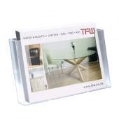 A4 leaflet holder wall mounted landscape