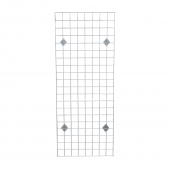 Wall Mounted Gridwall Display Kit in Chrome