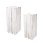 White Wooden Plinth Display Set