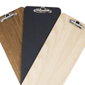 Wooden Wine List Clipboards in various colours