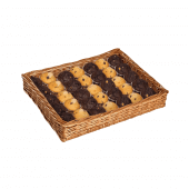 Wicker Dump Bin great for bakeries and cafes
