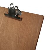 Dark Oak Wooden Menu Holder with Metal Clip A4, A5 or A6
