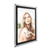 LED Illuminated Poster Kit Wall Mounted black border