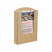 Pocket Wooden Menu Holder A5