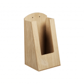 Pocket Wooden Menu Holder 1/3 A4