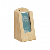 Pocket Wooden Menu Holder 1/3 A4 in use