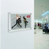 Acrylic frames wall mounted for retail