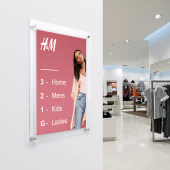 An acrylic poster frame is ideal for wayfinding signage