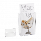 Wall mounted leaflet holder with optional freestanding foot
