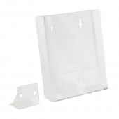 Supplied with foot for freestanding use and features keyholes for wall fixing