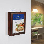 Wooden Suggestion Box with Poster Holder suitable for wall fixing