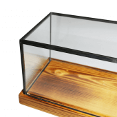 Wood and glass display case countertop glass display cabinet