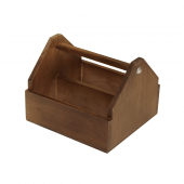 Wooden Condiment Holder aka condiment caddy