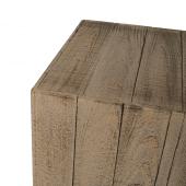 Brown Wooden Plinth Display Set Close Up