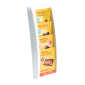 Four tier wall mounted brochure holder