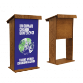 Wooden Lectern Stand with optional printed poster