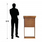 Wooden standing lectern height