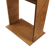 Heavy duty wooden lectern for greeting guests or presenting