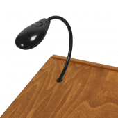 The microphone slot can be used to pass through lighting or wiring