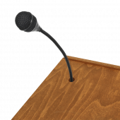 Wooden Lectern Stand with slot for microphone or wiring