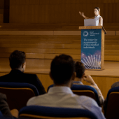 A Wooden Lectern Stand is great for education and business settings