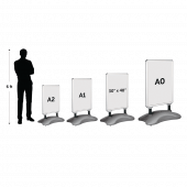 Water Base display sign size