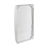 Wall mounted brochure holder with concealed rear fixing holes