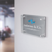 Acrylic Business Plaque In Situ