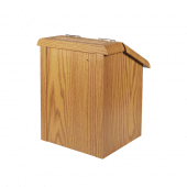 Suggestion Box with Lock featuring an oak finish