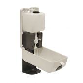 Refillable automatic dispenser supplied with hand sanitiser gel