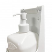 Wall mounted hand gel dispensers