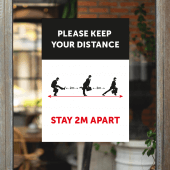 Please Keep Your Distance Self Cling Window Stickers