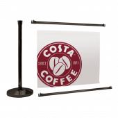 Black Cafe Barrier System Extension Kit