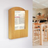 Wooden Menu Holder is great for use in many industries