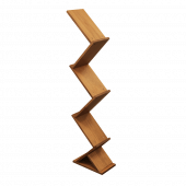 Wooden Zig Zag Display Stand with five shelves