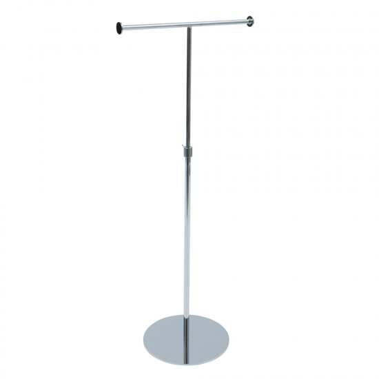 T-Arm Chrome Countertop Display Stand
