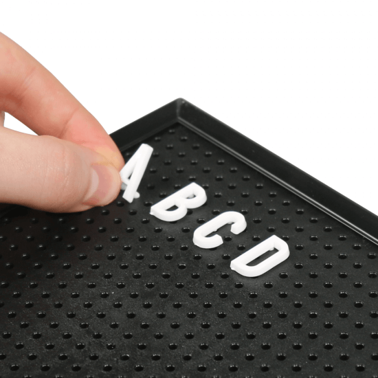 Peg Letter Board Supplied With Letters Numbers And Symbols