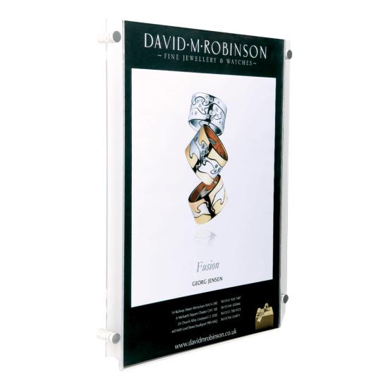 Acrylic Wall Mounted Poster Kit Portrait
