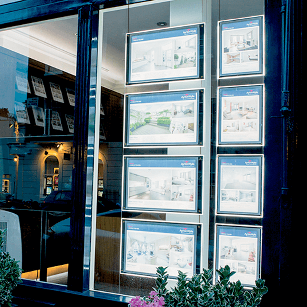 Cable and Rod Displays | Estate Agent Window Displays - UK POS