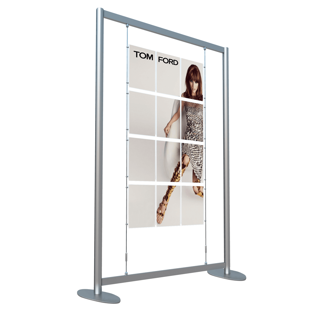 window display poster kit free standing in a4