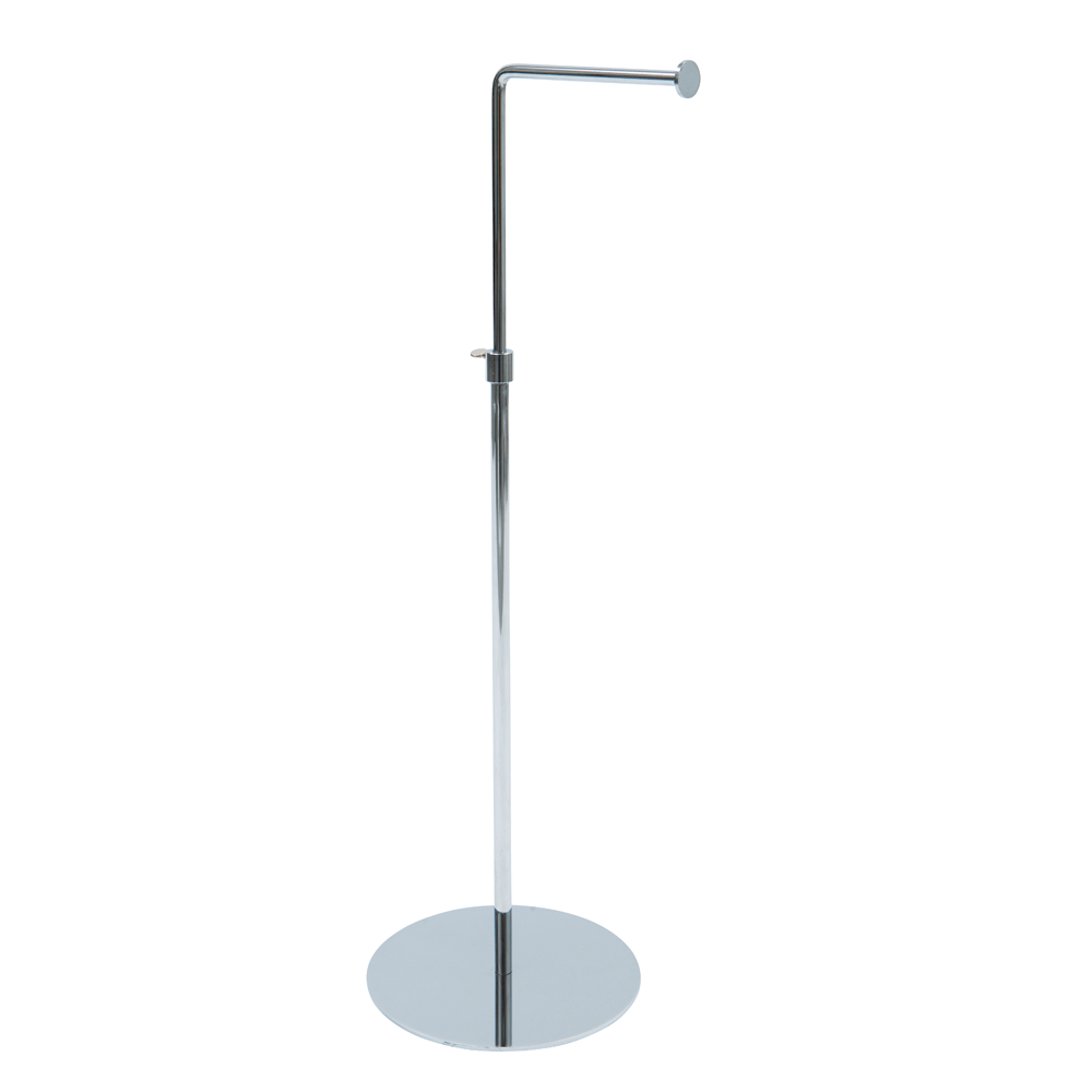 L-Arm Chrome Countertop Display Stand