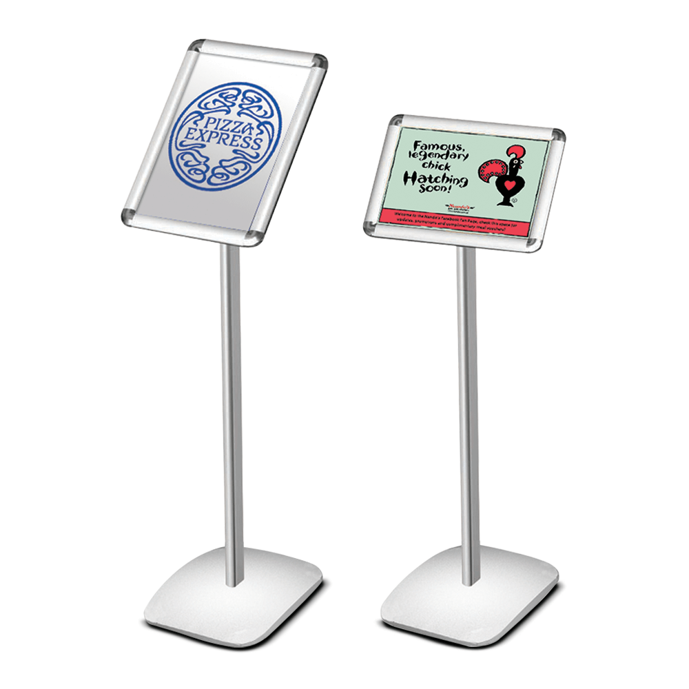 Free standing poster frame silver for Free standing