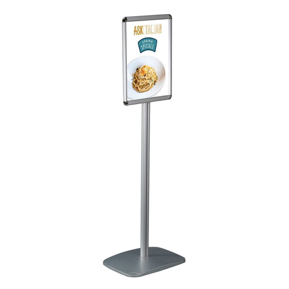 Free standing poster menu board for Free standing
