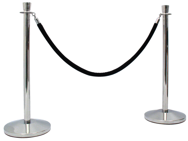 Pole And Rope Barrier