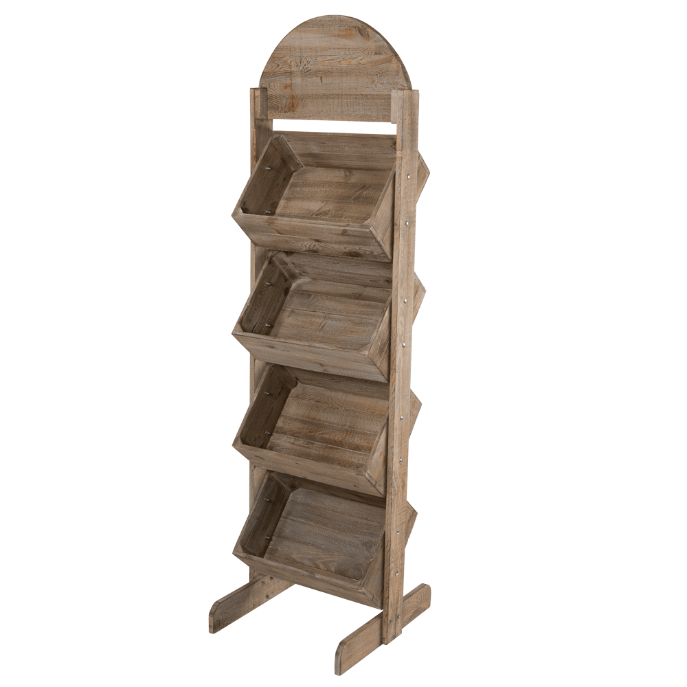 Wooden Crate Display Stand