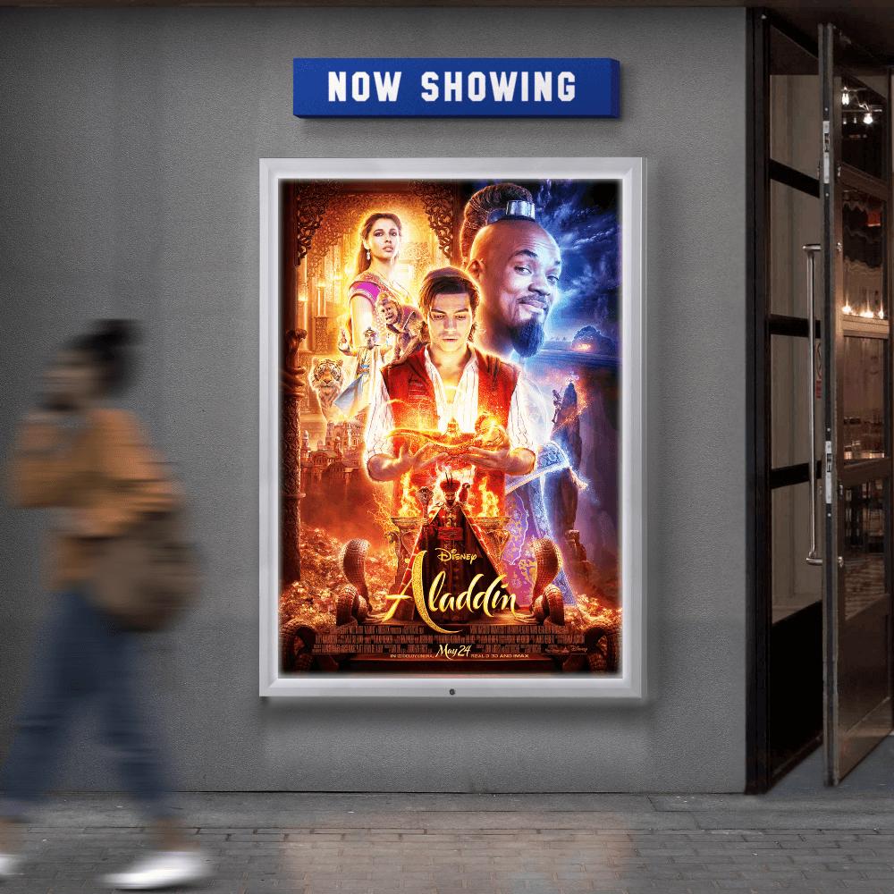 Cinema Poster Light Box Outdoor Led Poster Frame