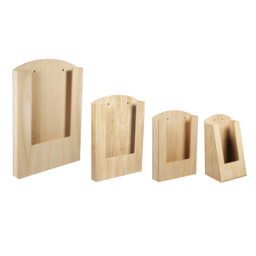Pocket Wooden Menu Holder In A3 A4 A5 Or 1 3 A4