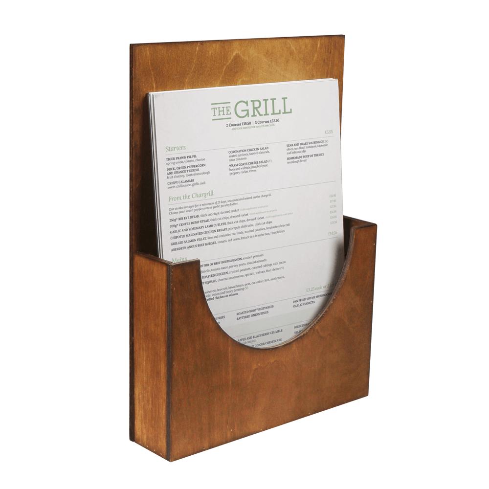 Wooden Leaflet Holder