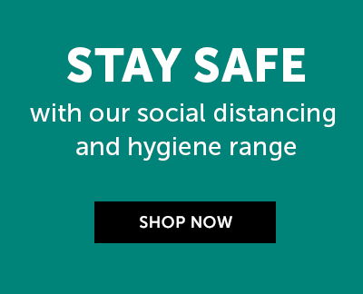 Stay safe with our social distancing and hygiene range