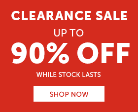 Up to 90% off clearance SALE!